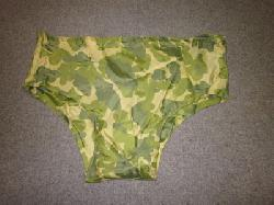 click to see Sale UM-192, WWII / Korean War Era US Theater Made Swim Trunks