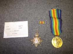 click to see ML-509, WWI British Medal Grouping