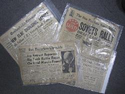 click to see BK-688, WWII US Newspapers, Random Dealer Lot of 10 Newspapers