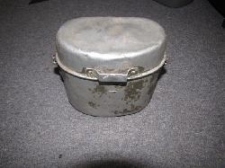 click to see SALE GF-194, WWII German Aluminum Mess Kit