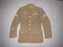 click to see UU-591, WWII US Army Air Corps Enlistedman's Tunic