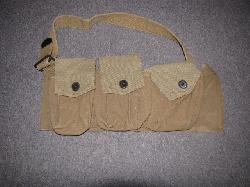click to see UF-057, WWI US BAR Assistant Gunner's Left Bandoleer
