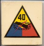 click to see uyh0002-post-wwii-us-army-40th-armored-division-helmet-liner-patch